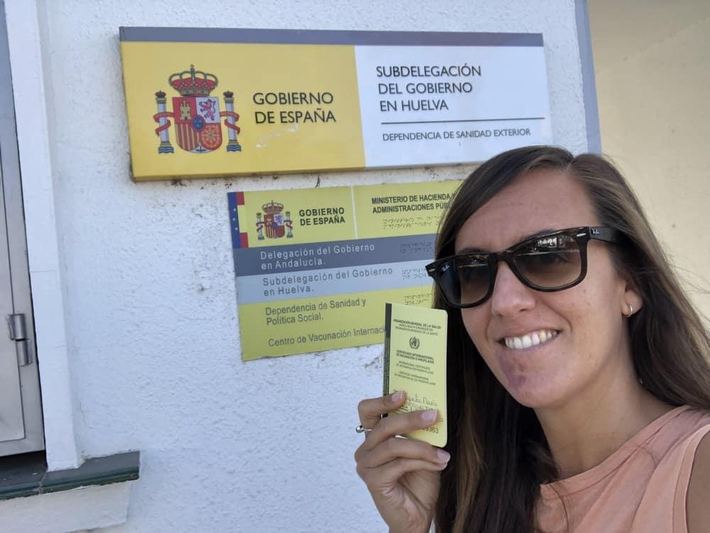 nuestra última visita el centro de vacunación internacional de huelva
