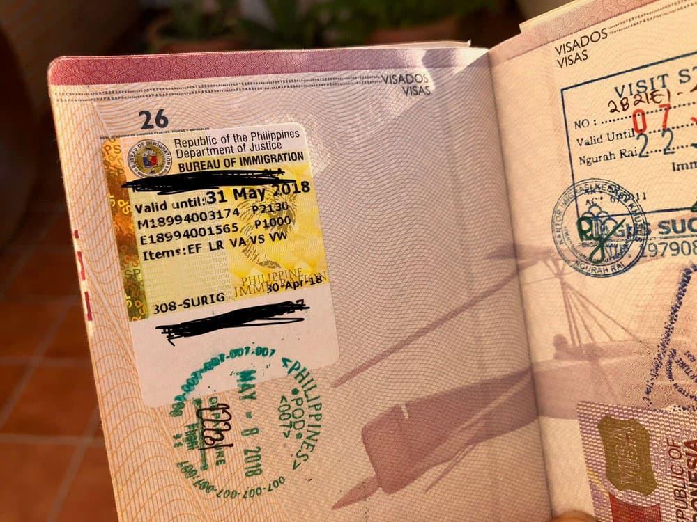 extender visado para filipinas