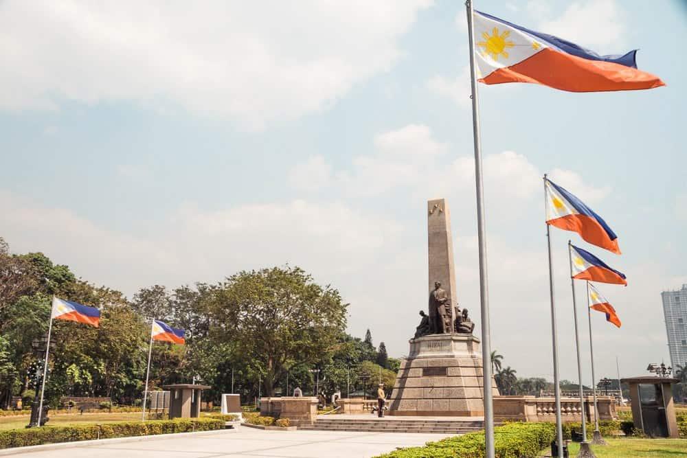 Monumento a José Rizal en Rizal Park, Manila