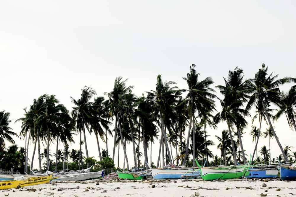 Bangkas en las playas de Bantayan