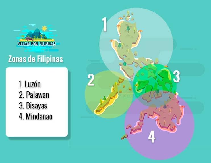 mapa de Filipinas por zonas