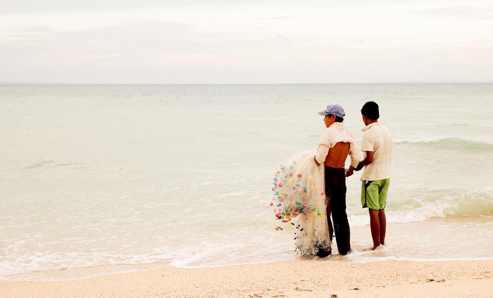 Pescadores en Sugar Beach Bantayan