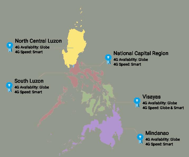 cobertura de internet 4G en Filipinas