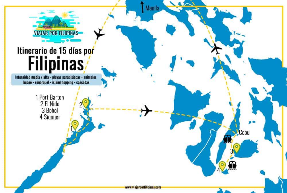 itinerario viaje 15 días Filipinas