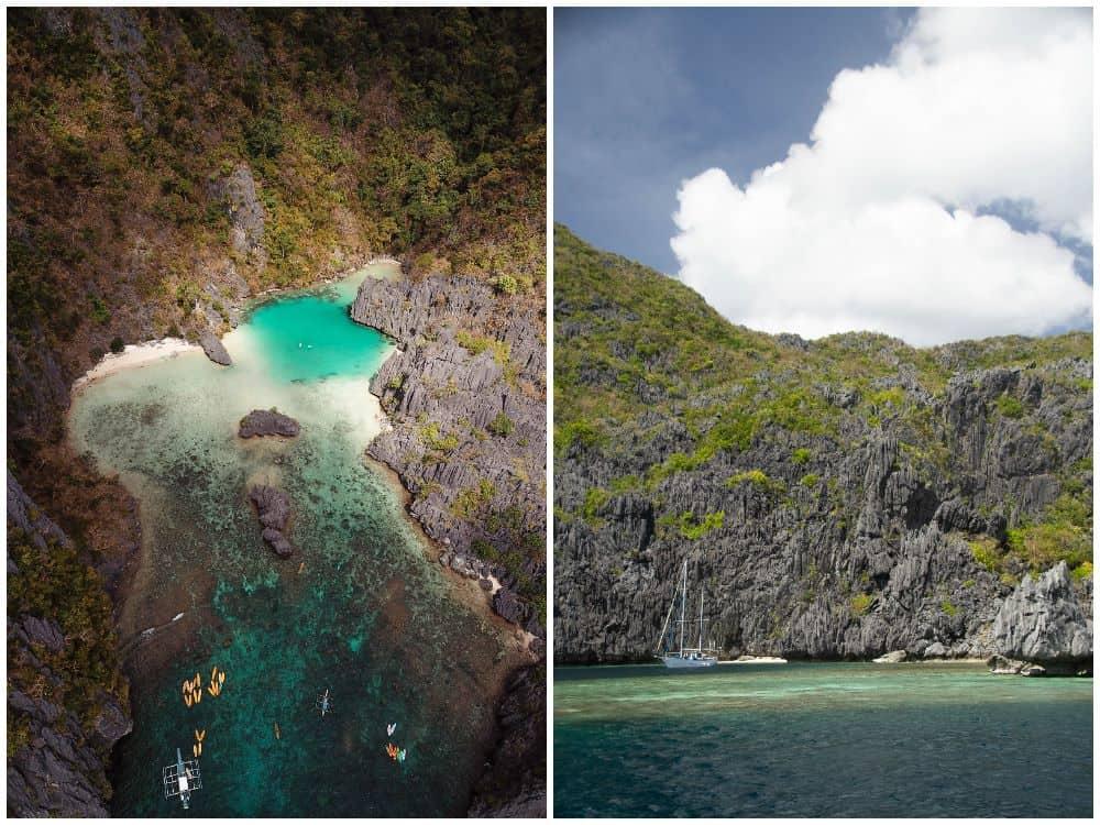 Vistas de las islas de El Nido