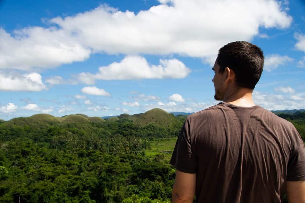 chocolate hills en el itinerario de 15 días por filipinas