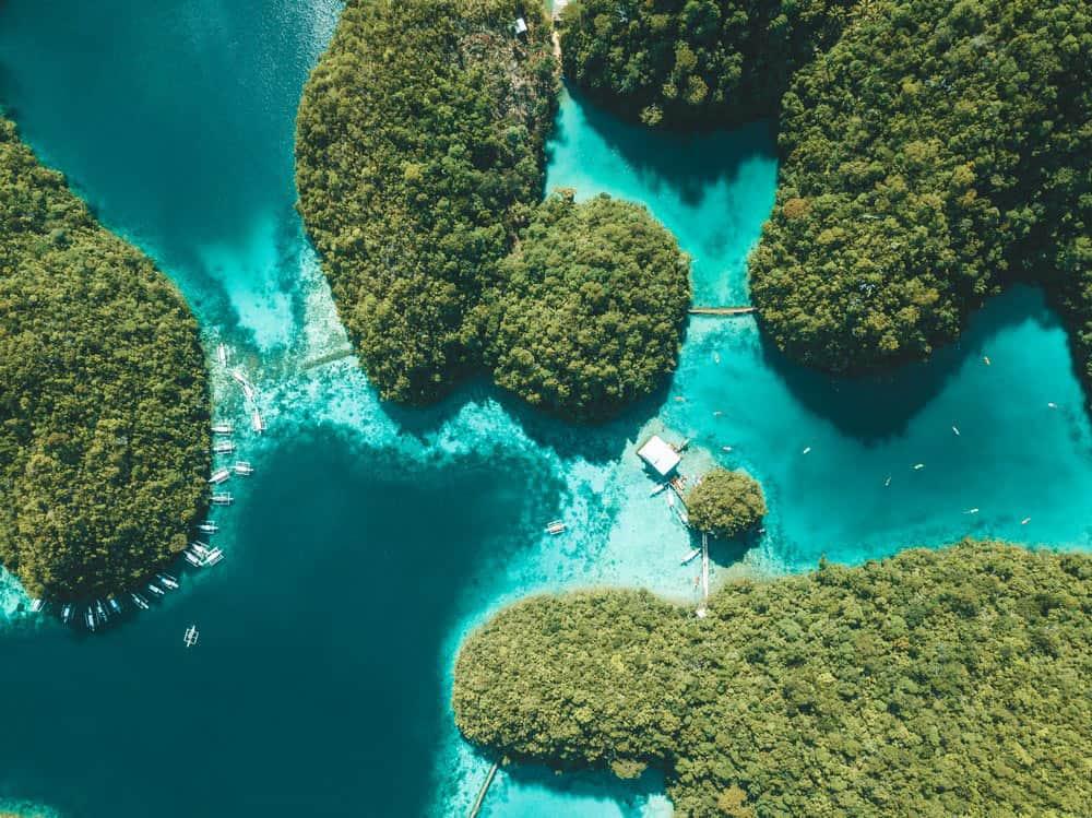 Sugba Lagoon, en la isla Siargao de Filipinas
