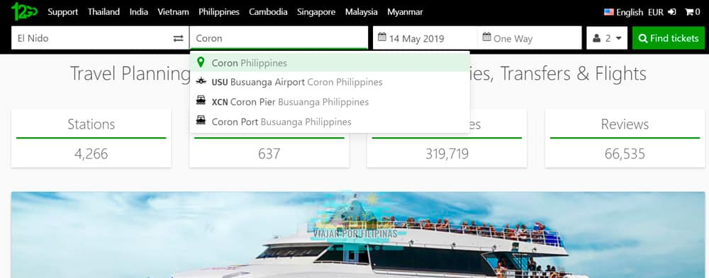 reservar ferry en Filipinas