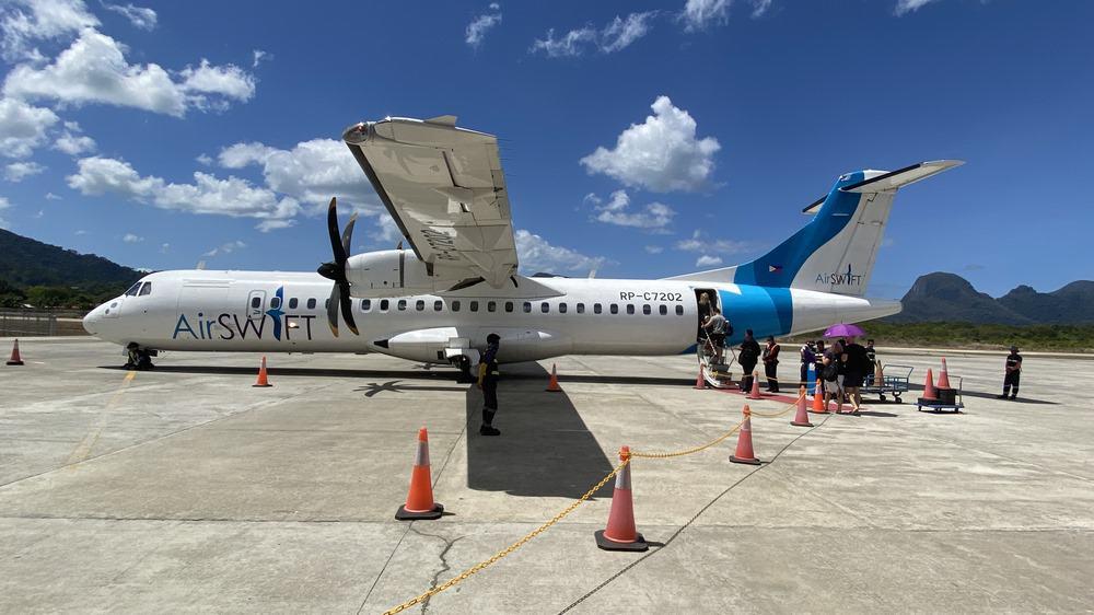 Aviones de Air Swift para ir de El Nido a Boracay
