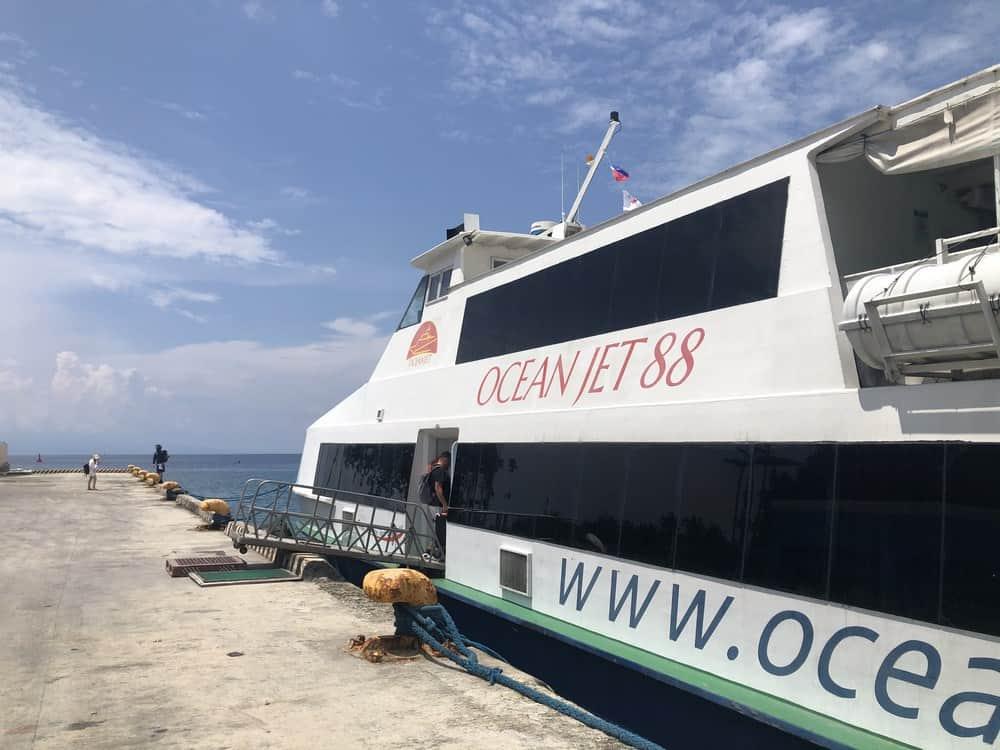 Último paso de Siargao a Bohol: barco de Cebu a Bohol