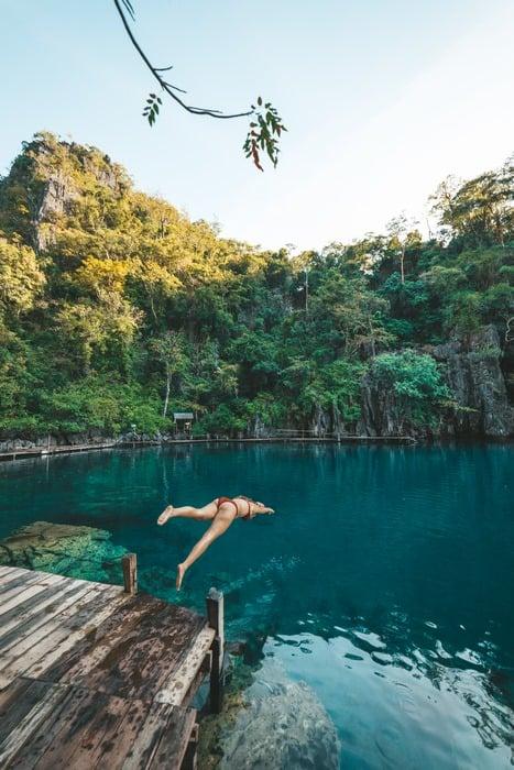 Lagunas mágicas en tu luna de miel en Filipinas
