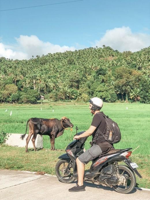 alquilar moto en Filipinas