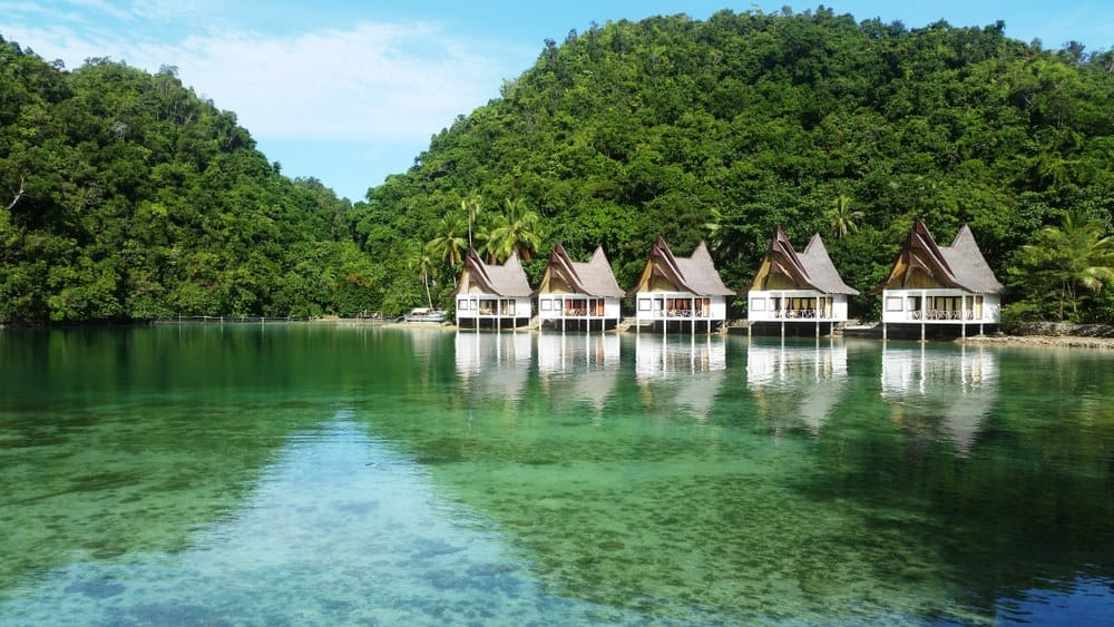 cabañas sobre el mar en Siargao