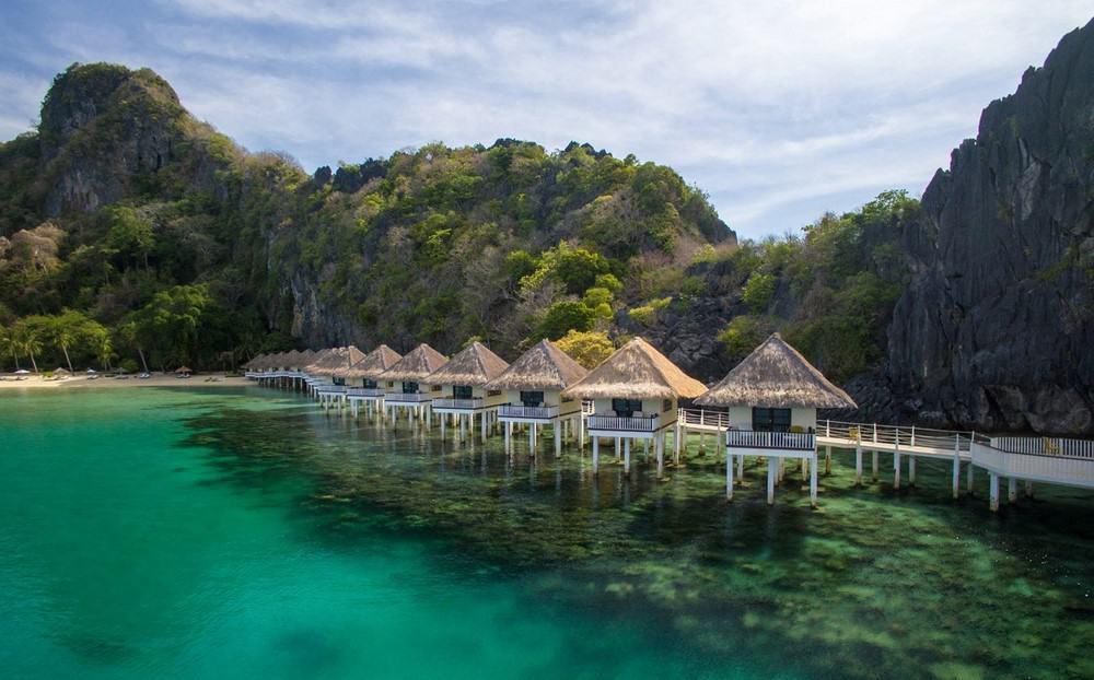 resort sobre el agua en Filipinas
