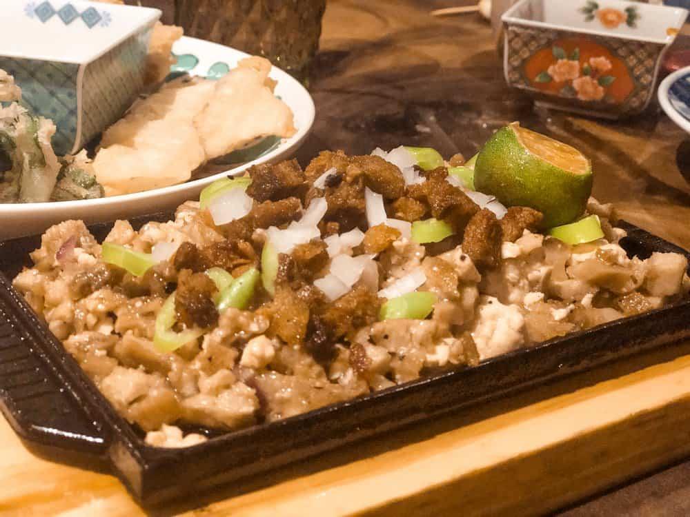 sissig vegano para comer en Manila