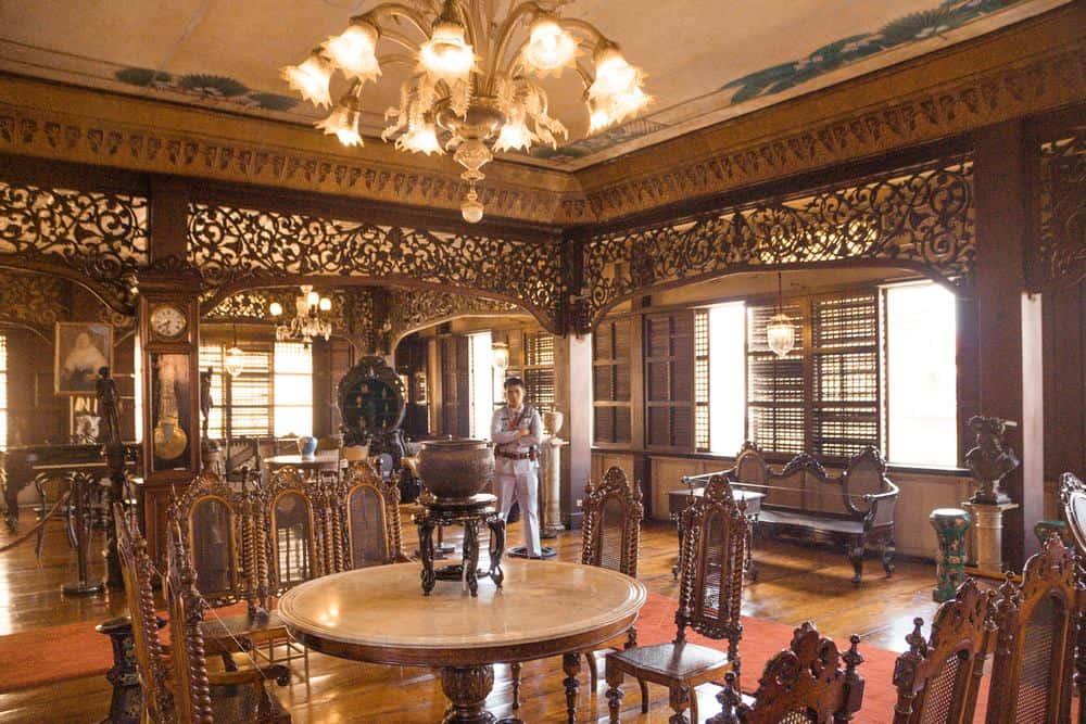 interior de Casa Manila en Intramuros