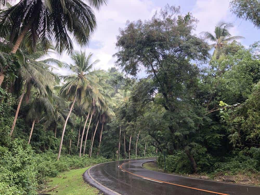 carreteras de filipinas lluvia