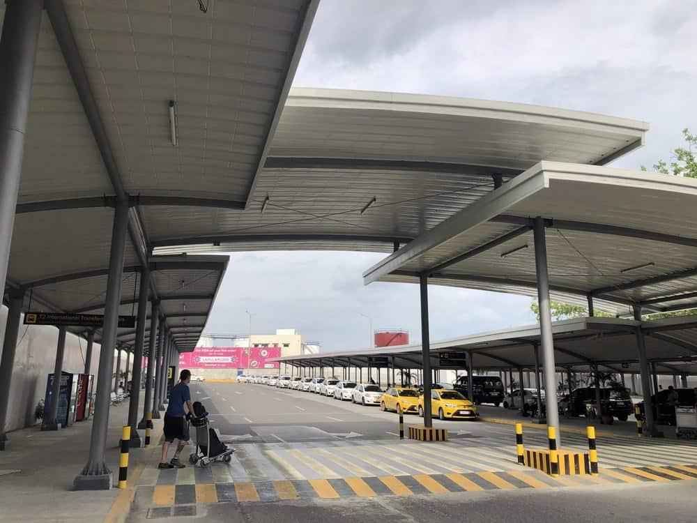 taxis en el aeropuerto de cebu