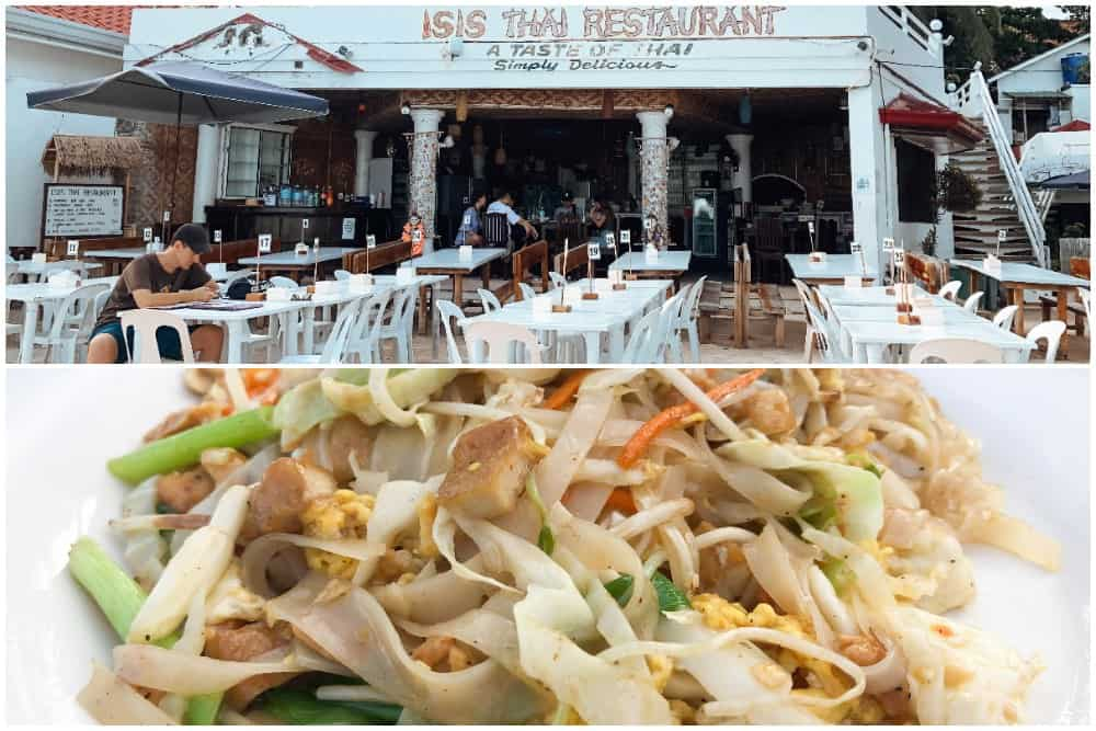 isis thai comer en alona beach