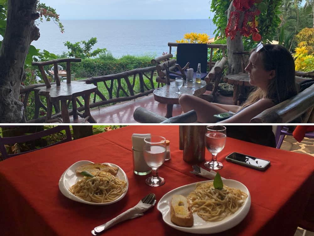 restaurante con vistas para comer en Camiguin