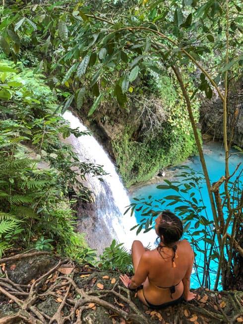 Kawasan Falls Cebu desde arriba