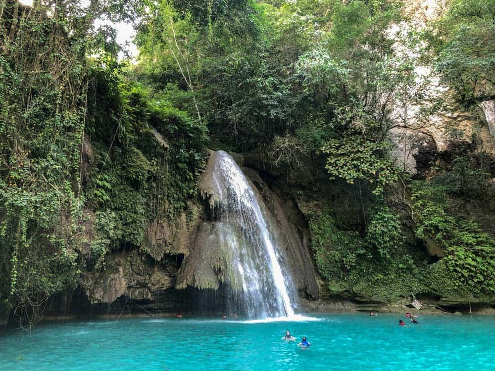Kawasan Falls, el final del canyoneering en Cebu