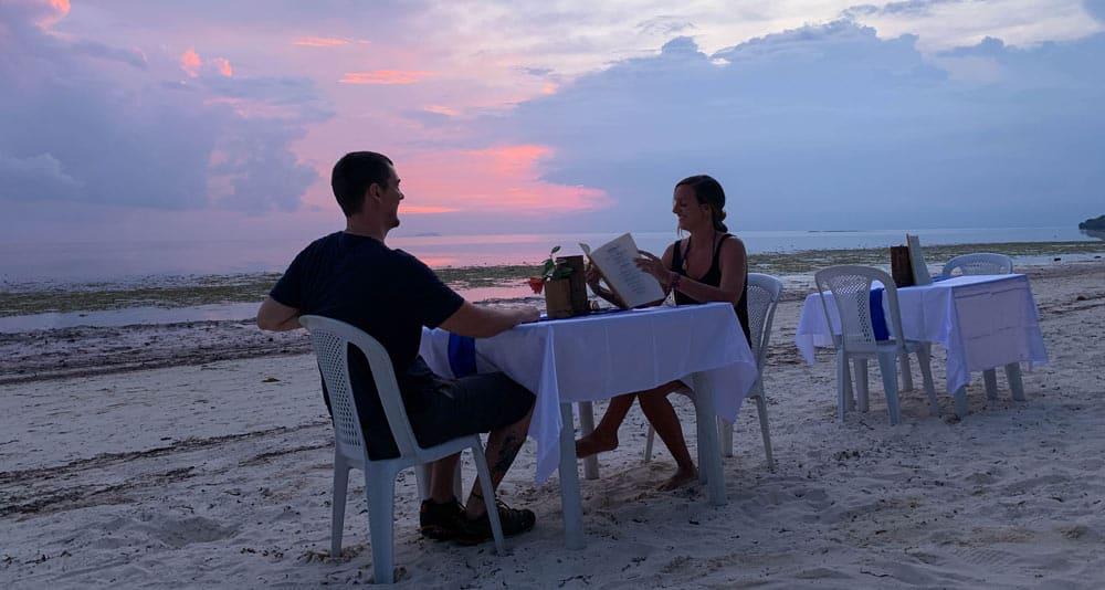 cenas en la playa de Siquijor