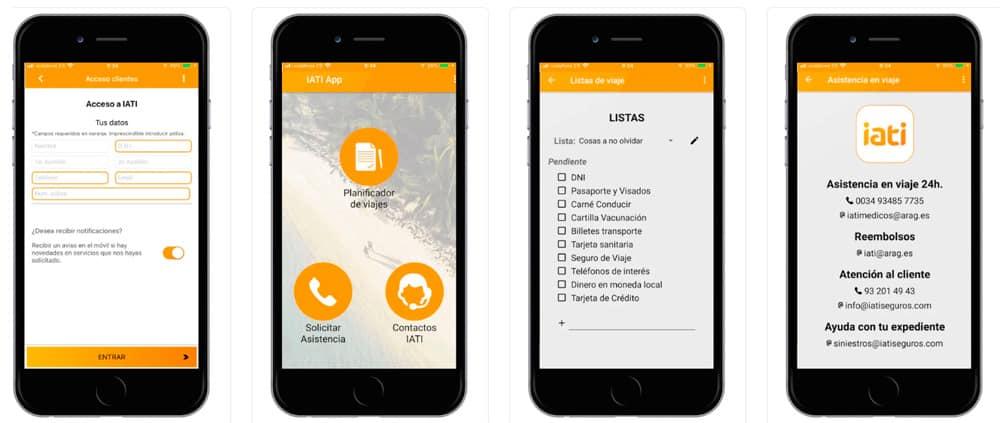 seguro de viaje con app