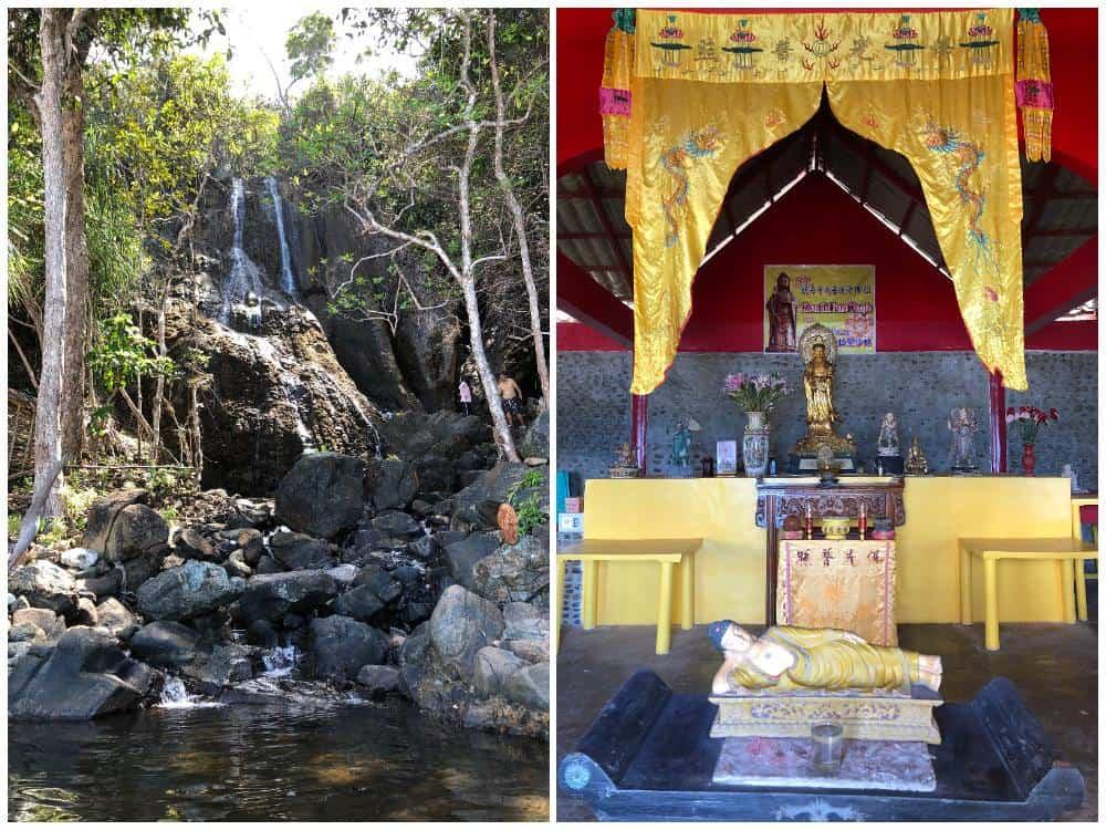 sabang falls y templo chino