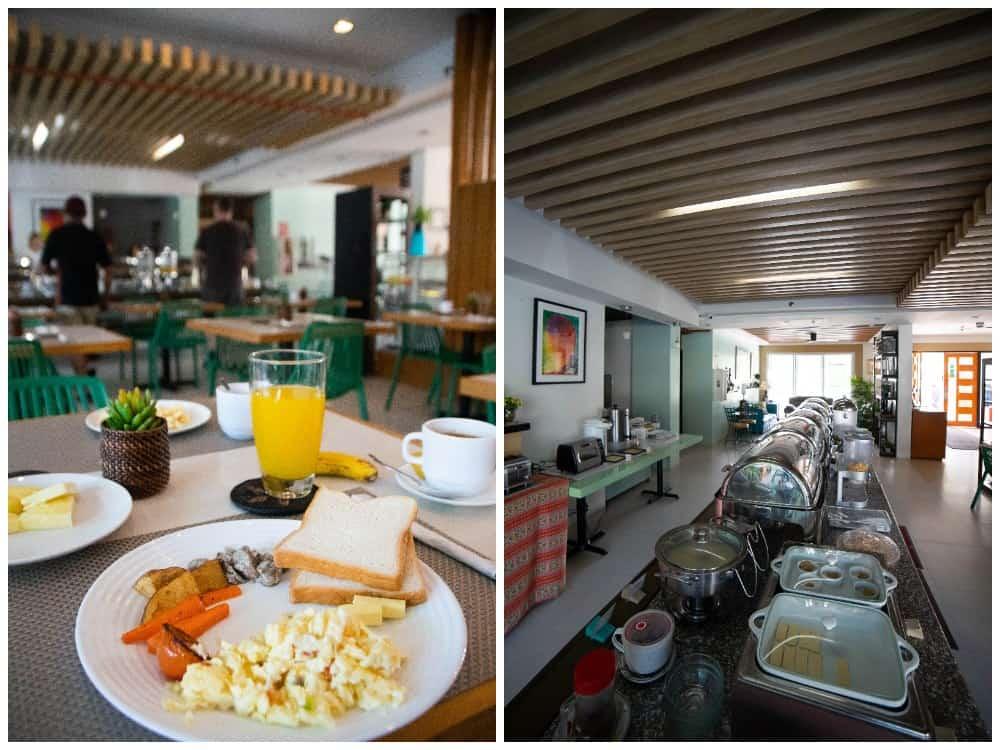 desayuno hotel Sea Cocoon