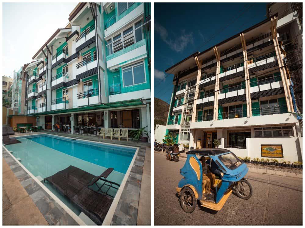 piscina y fachada del sea cocoon
