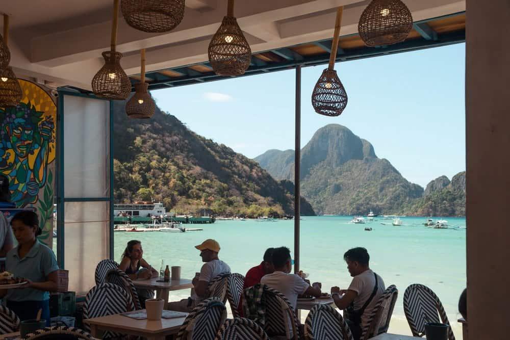 restaurantes con vistas al mar en El Nido