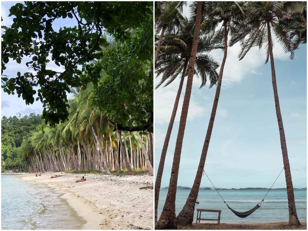 hamacas en Coconut Beach
