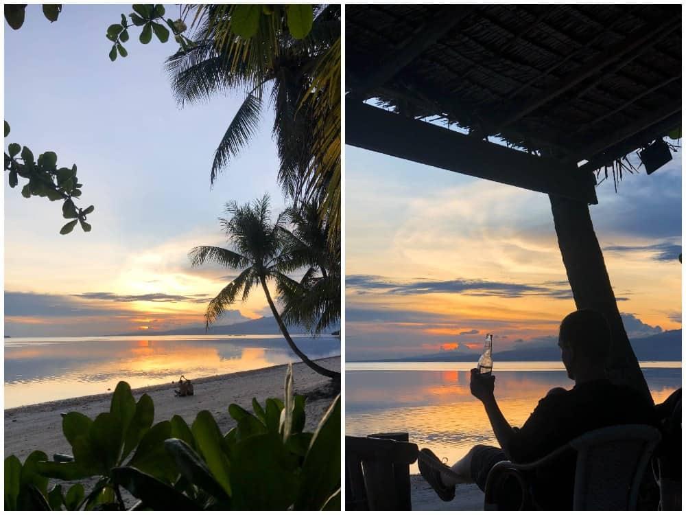 atardecer en Coral Cay