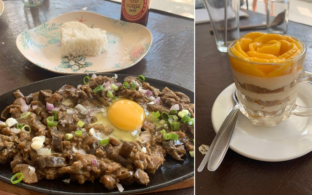 comer vegetariano en Moalboal