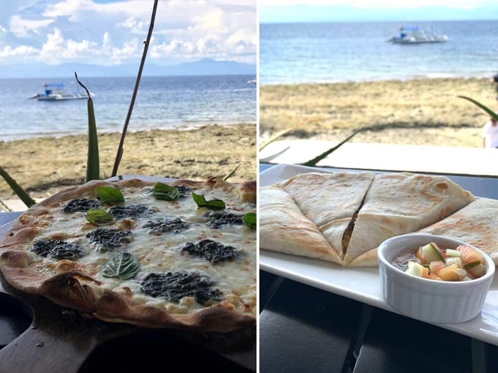 restaurante frente al mar