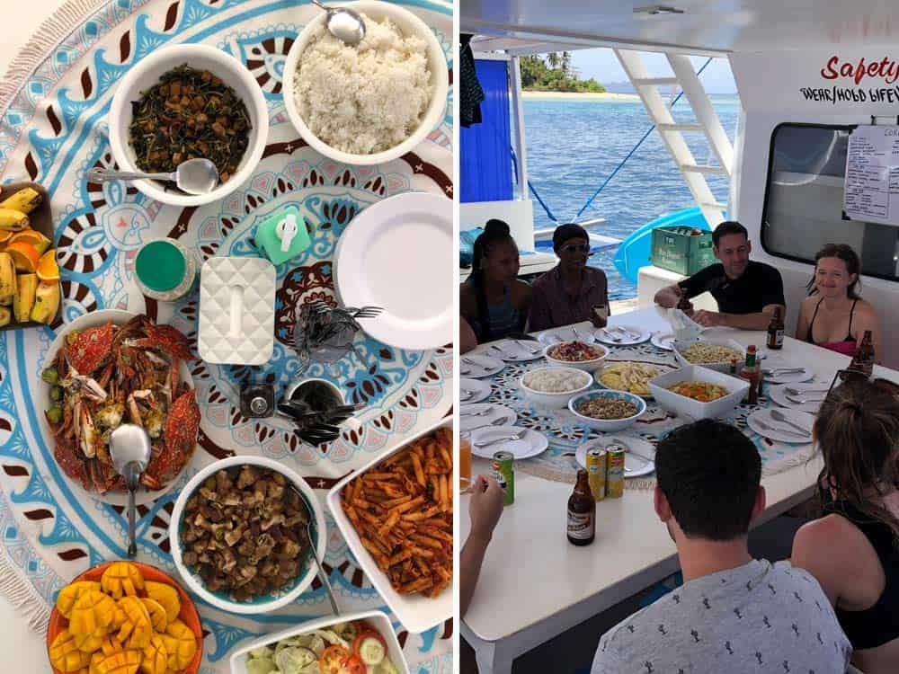 comida durante la expedición