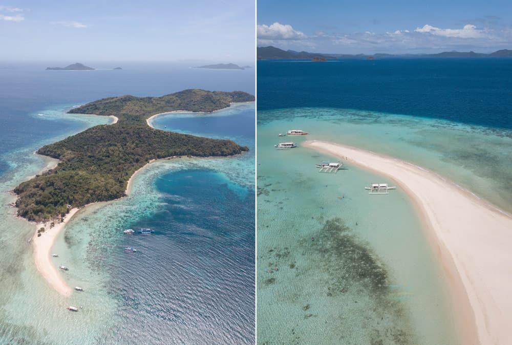 Ditaytayan Island y su lengua de arena