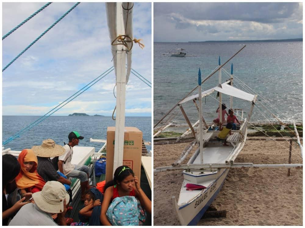 barcos a Apo Island