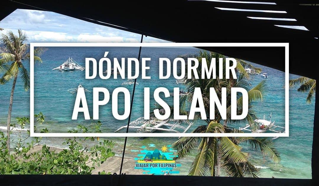 Donde dormir en Apo Island