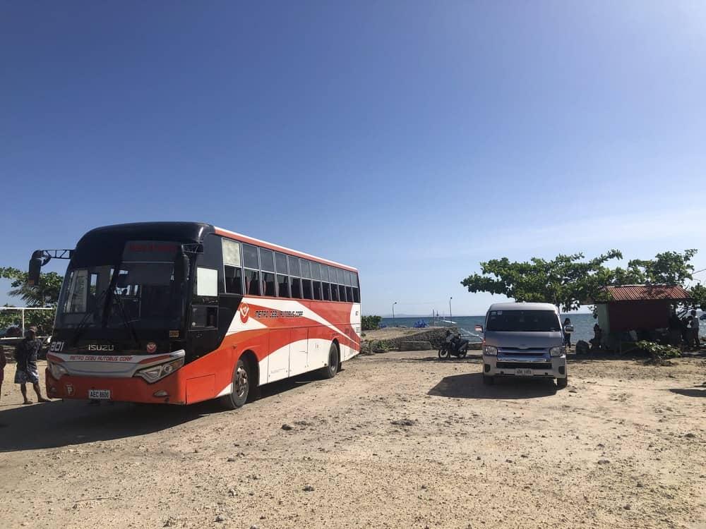 bus y furgoneta de maya a cebu