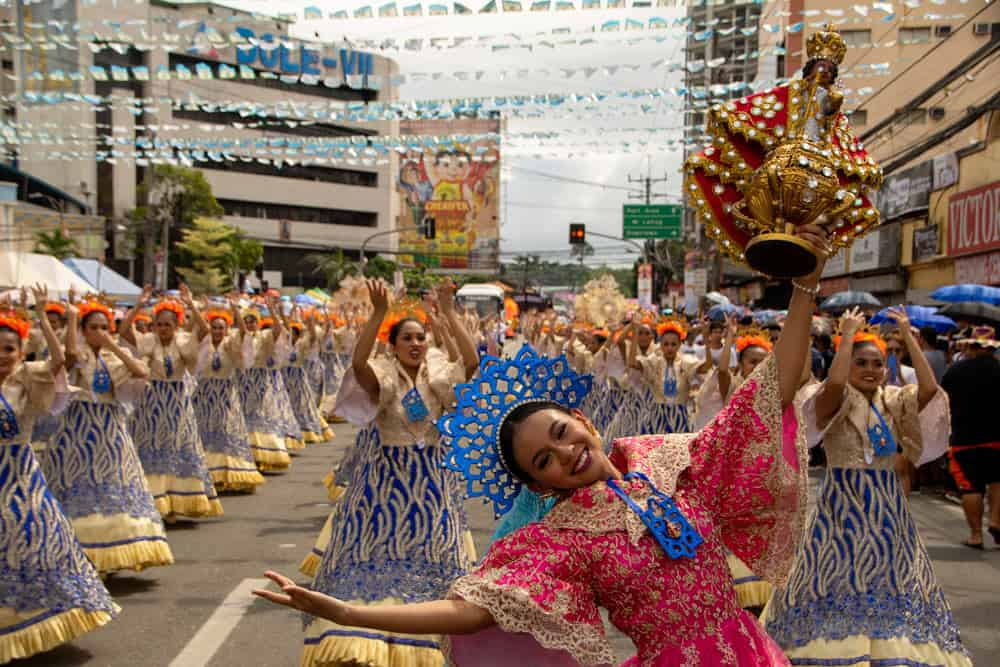 comparsa del desfile del Sinulog Festival, Cebu