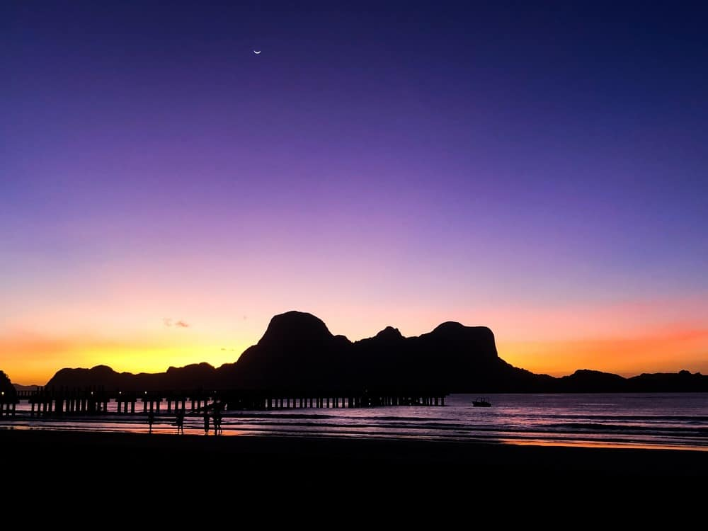 sunset lio beach el nido