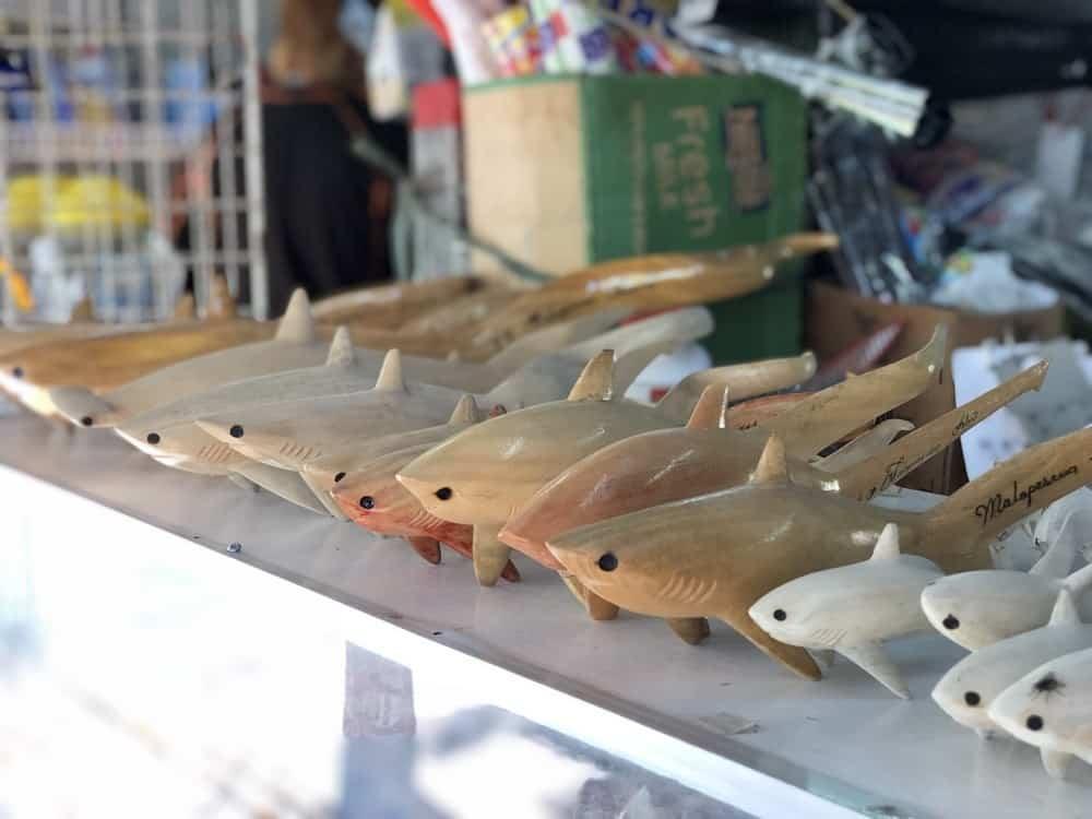 figuras talladas tiburón zorro malapascua