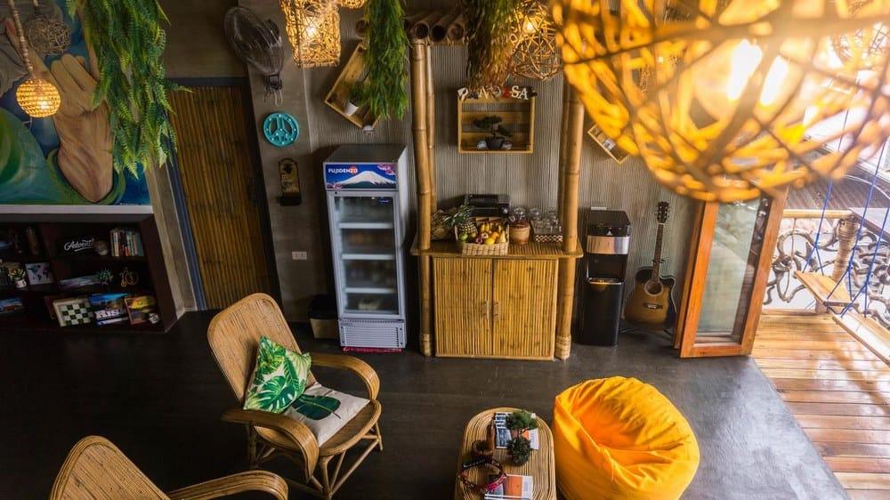 zonas comunes Happiness Hostel El Nido