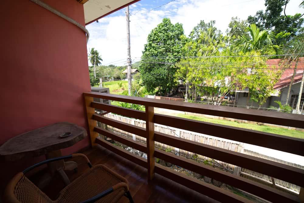 balcón de la habitación doble