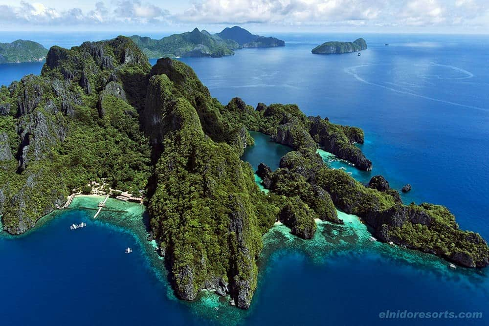 isla Miniloc dron