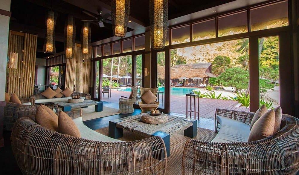recepción cauayan island resort