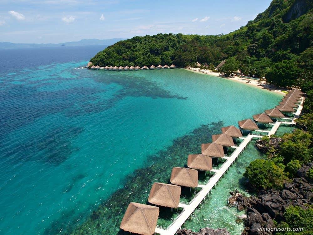 bungalows sobre el mar El Nido Filipinas
