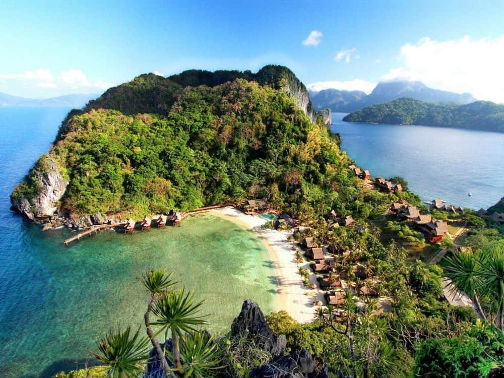 cabañas sobre el mar filipinas cauayan island resort